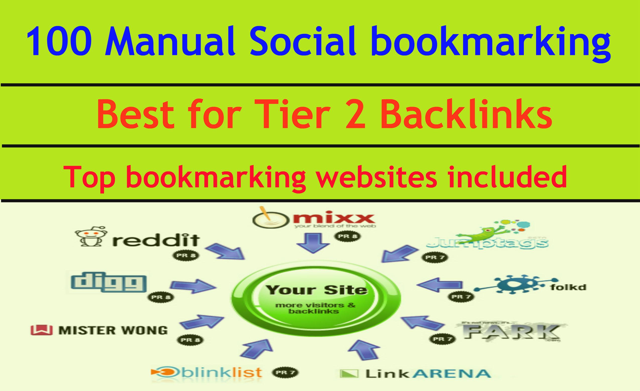 100 Manual Social Bookmarking Links