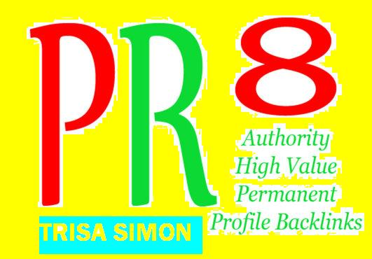 Manually do 30 PR8 or above manual backlinks for your Website