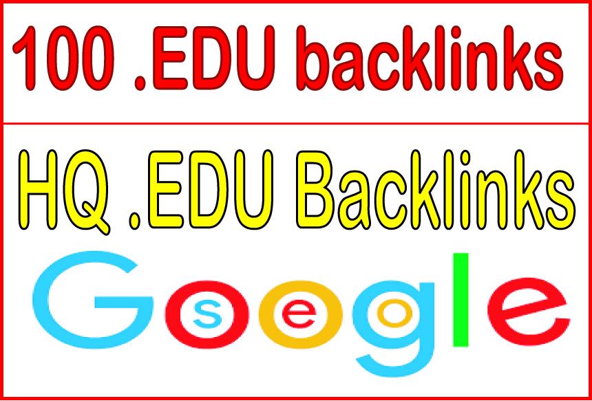 Build 100 HQ. EDU backlinks