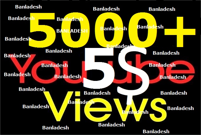 I will Add 1000+ You tube Video views + 5 Likes