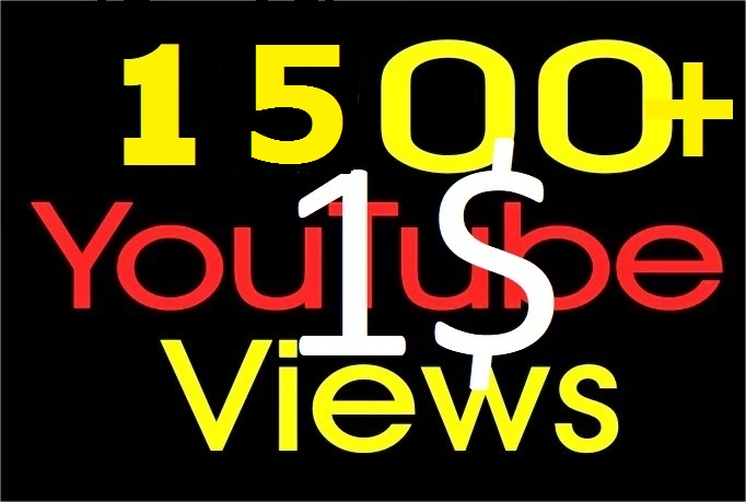 I will Add 1000-1500+ High Quality Youtube views + 5 Likes