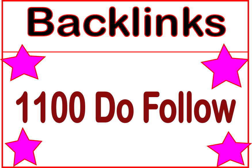 I will Do HQ 1100 Do Follow Backlinks