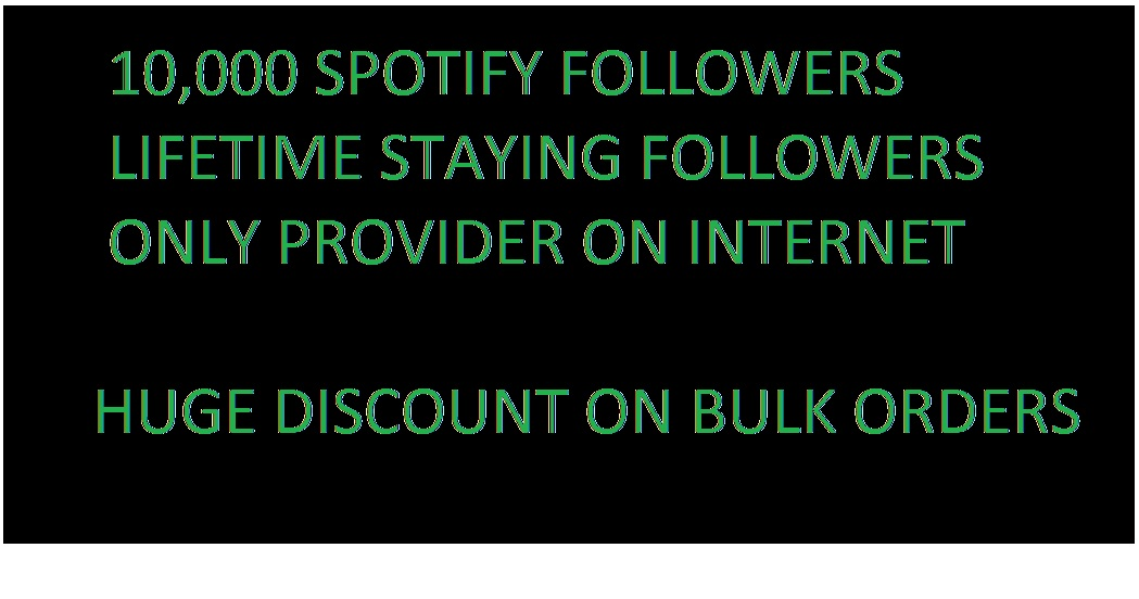 Get 10000 spotify followers