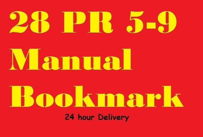 manually create 28 PR 5to9 bookmark