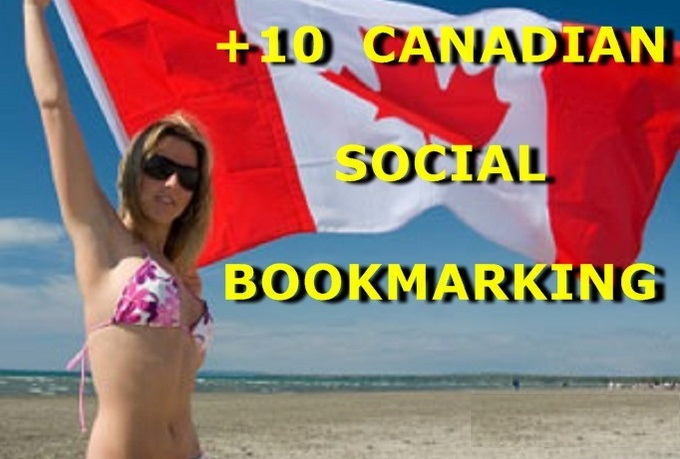 submit URL to 10 Canadian Social Bookmarking Sites with Bonus