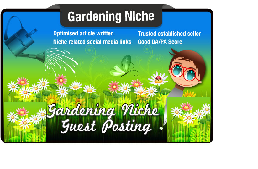 blog post and Write a Gardening Niche Article on a Garden Site