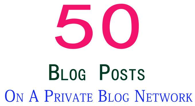 I will create 100 blog posts on a private blog network in 24 hours
