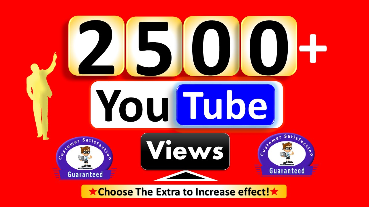 Instant Start 2500 to 3000  Views - HR Video Quality Non Drop Guaranteed