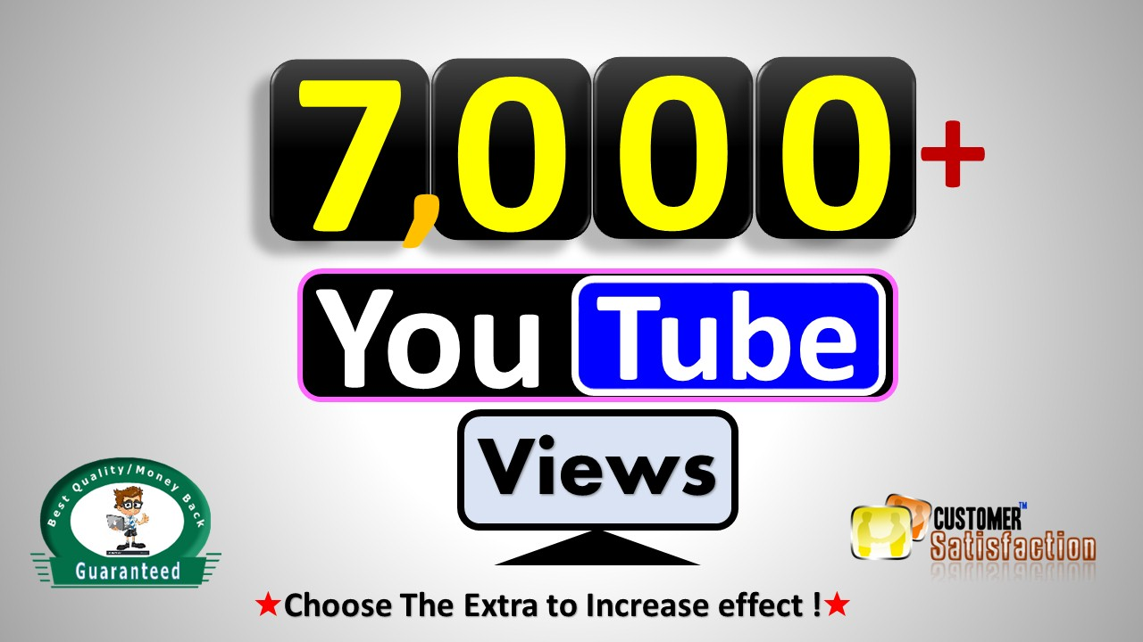 Instant Start 7,000+ Views - High Retention Video Quality, Guaranteed for 30 Refill if Drop