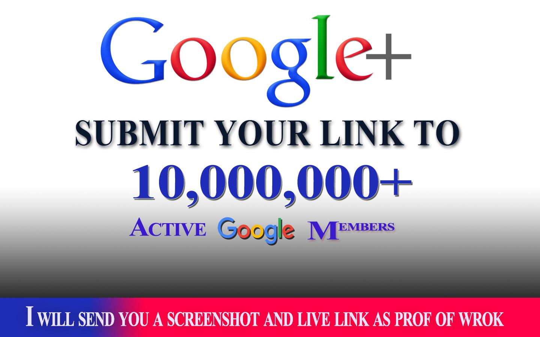 blast your link to 10,000,000 google plus members
