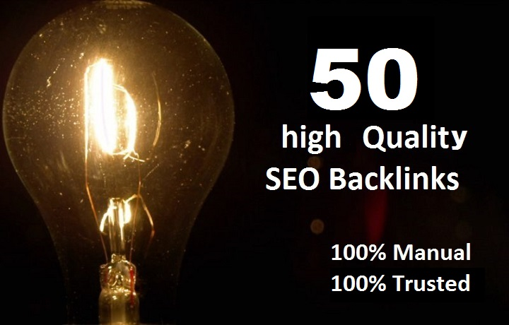 50 high Quality Trusted Backlinks