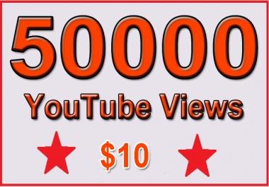 Get 50000 High Retention Youtube Views