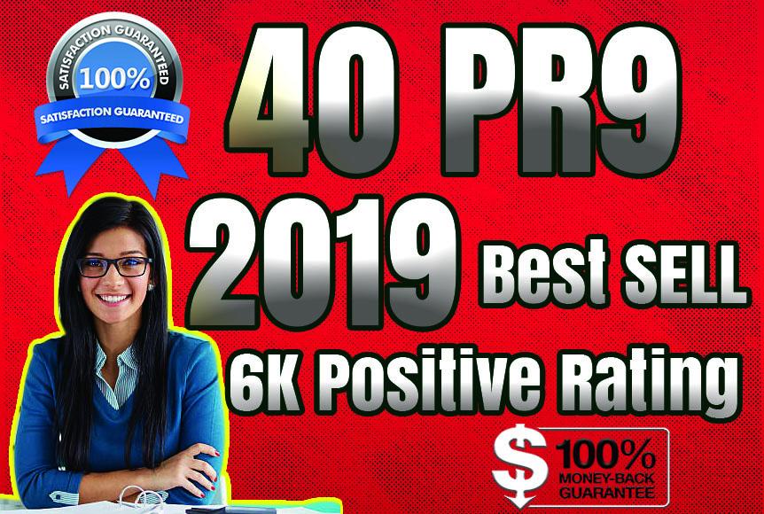 Best Sell-2018 - I will manually do 40 PR9 Safe SEO High Pr Backlinks 2019 Best Results