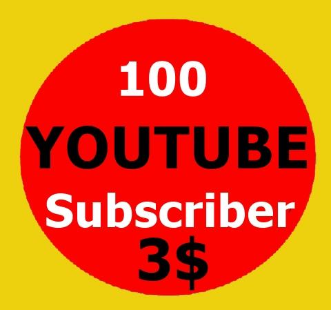 100 High Quality Youtube Subscriber non drop