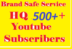 SUPER FAST 500+ Stable & Never Drop You Tube Subscri bers Only