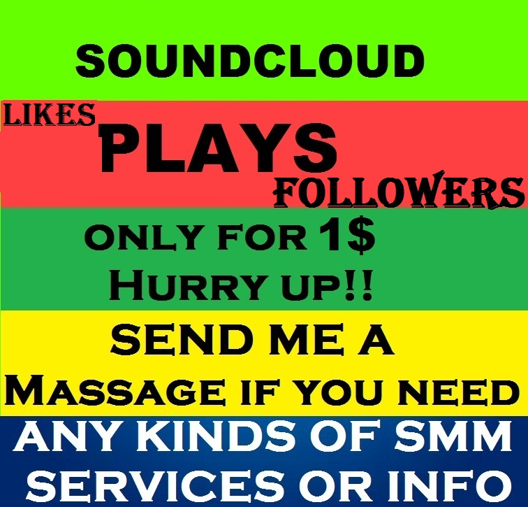 Get 300,000  Soundcloud Plays with 100 Followers & 100 Likes