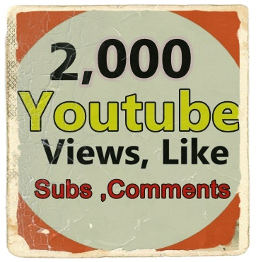 2,000  Youtube Views+ 50 Like +5 Subscriber +3 Comments Limited Time Offer