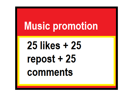 25 likes + repost + comments for Music  Promotion