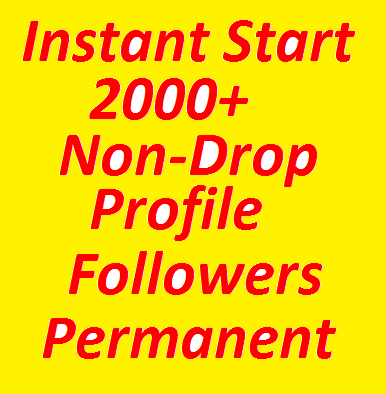 Super  Fast  2000+ High Quality Profile Followers Fully Safe
