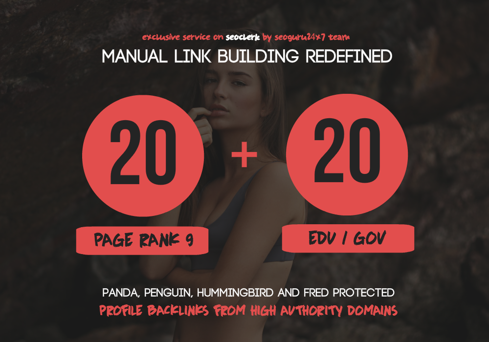 20 Pr9 + 20 Edu - Gov High Pr SEO Authority Backlinks - Fire Your Google Ranking