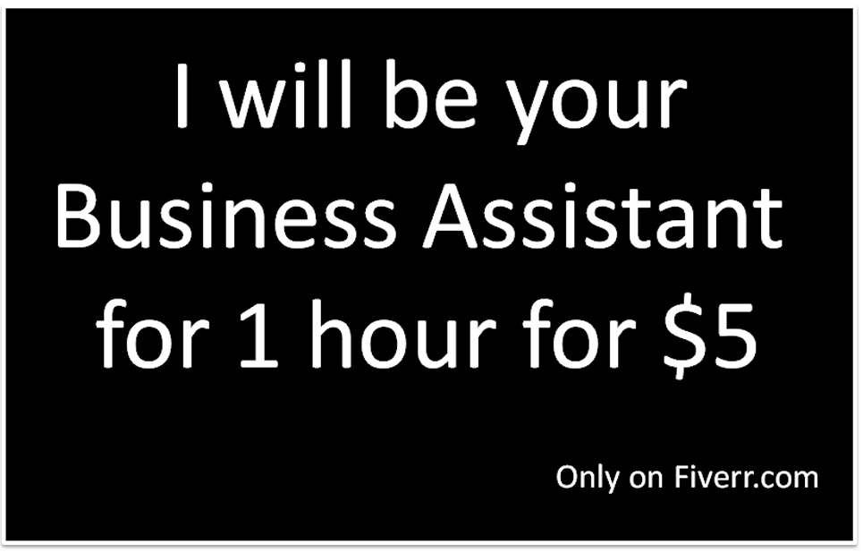 I will be your Business Assistant for 1 hour