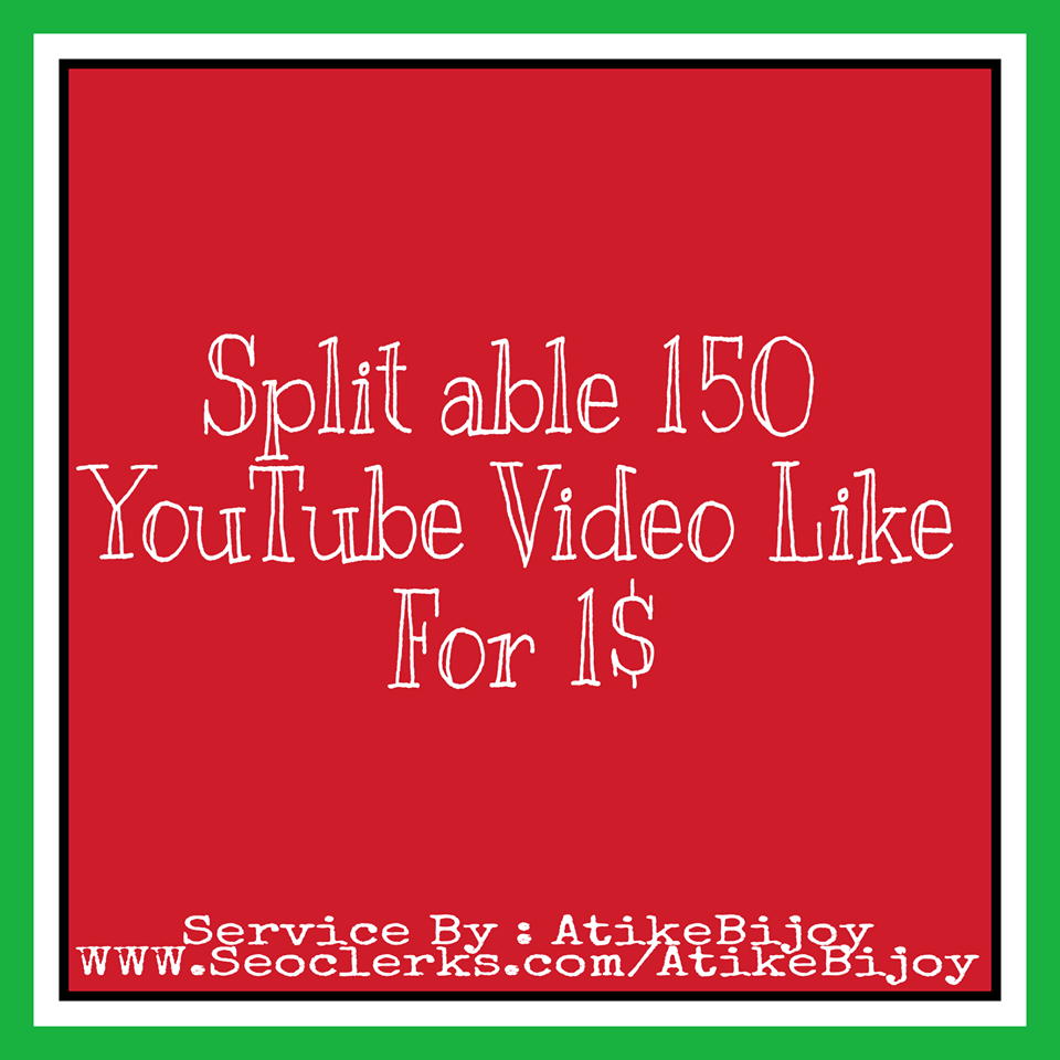 Life Time Guaranteed 5000-7000 YouTube View's and 100 Video Like & 5 subscribers