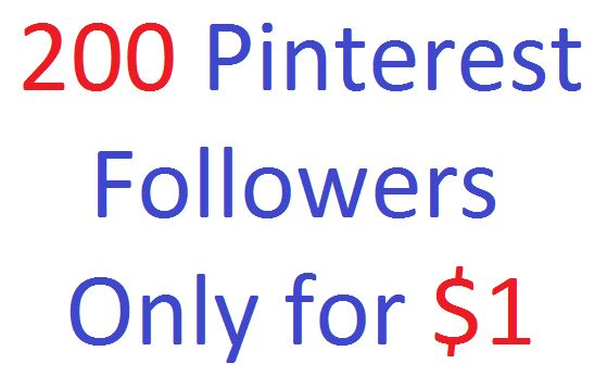 200 Pinterest followers for your page