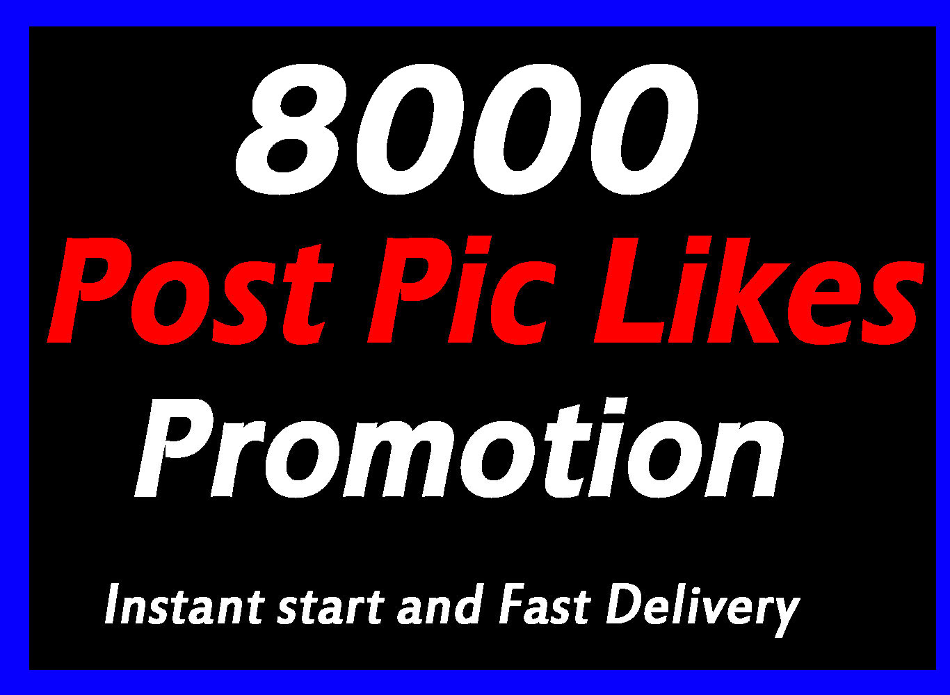 Instant 8000 High Quality Social Pictures Promotion