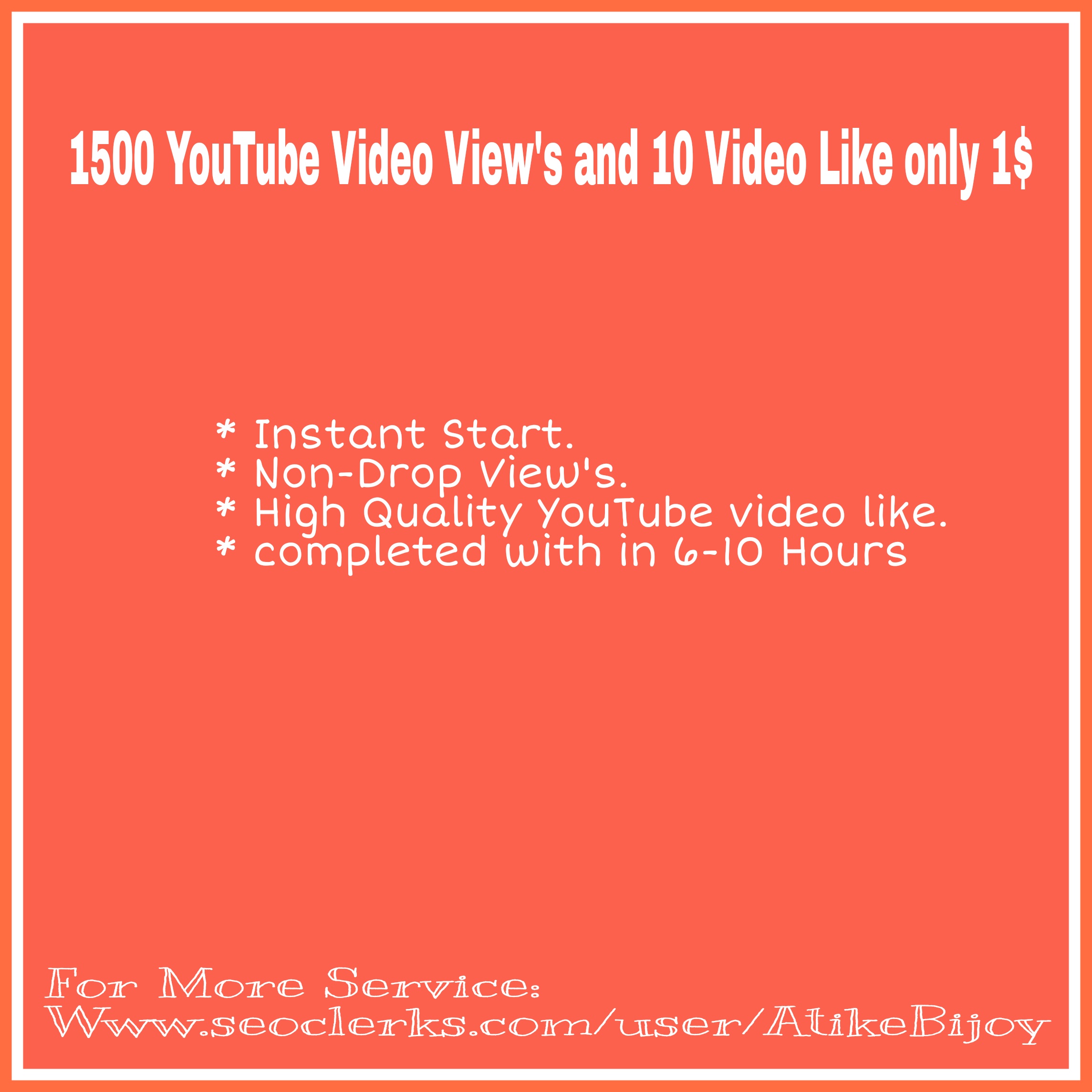 Life Time Guaranteed 2000-2500 YouTube V iew's + 50 Video L ike instantly