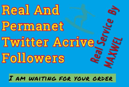 Realand Permanent  Active 1000+ Twit-ter Follo-wers