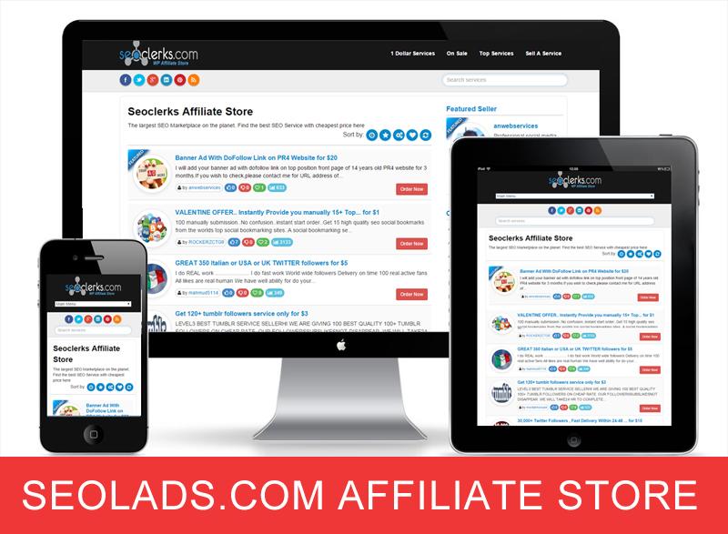Seolads. com Affiliate Store WordPress Theme