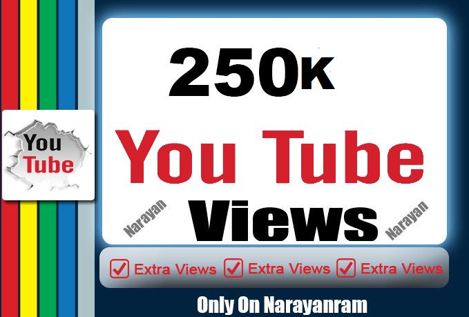 Get 250000 (250k) High Quality YouTube Vie'ws