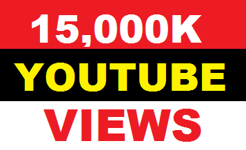 15,000  you tube views  50+ youtube likes