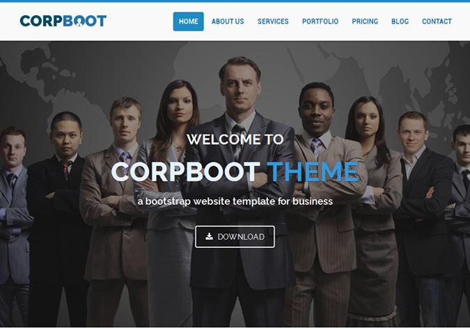 Corpboot Corporate Website Template