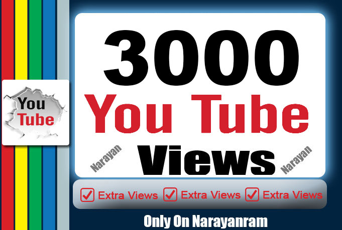 Get 3000++ High QualityYouTube Vie'ws