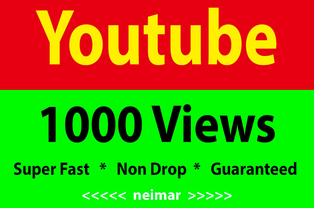 Instant Start 1000-2000 High Retention Youtube Vie ws Non Drop Lifetime Refile Guaranteed