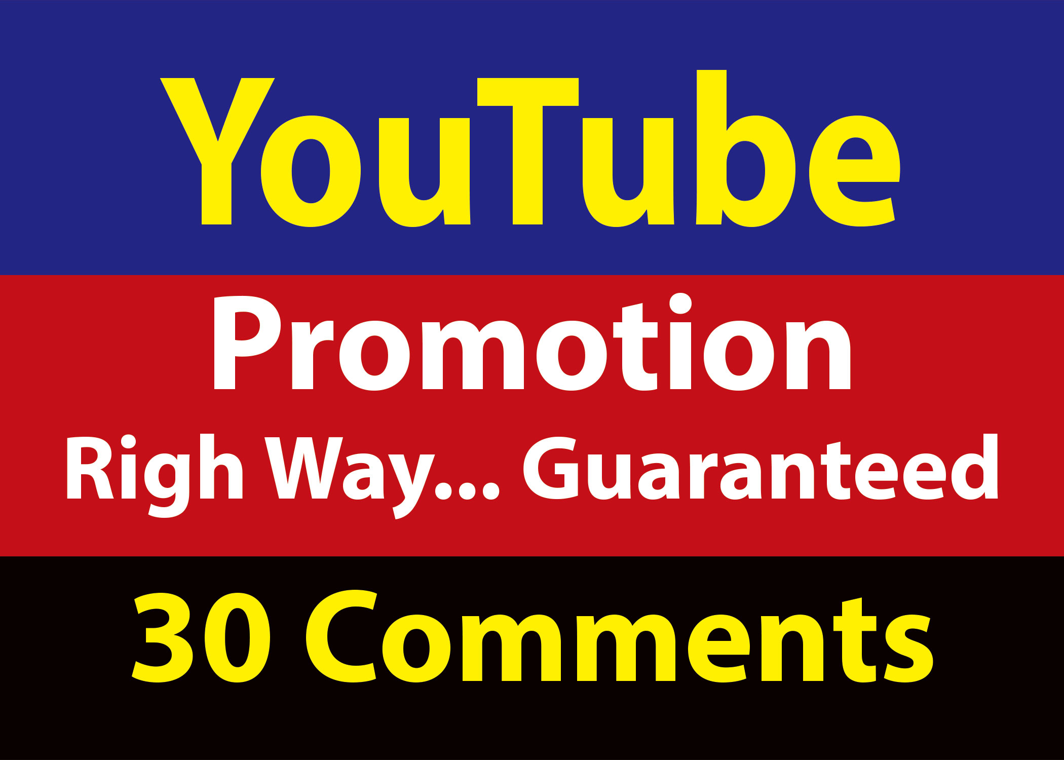 Guaranteed Real 30 YouTube Custom comments 24 hrs Delivery