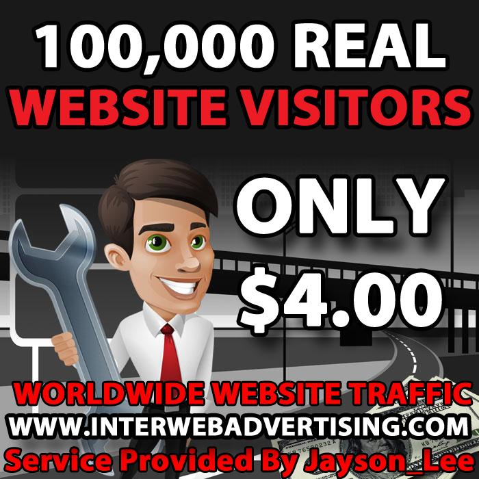 100K Web Traffic To Your Website, Blog or Affiliate Link