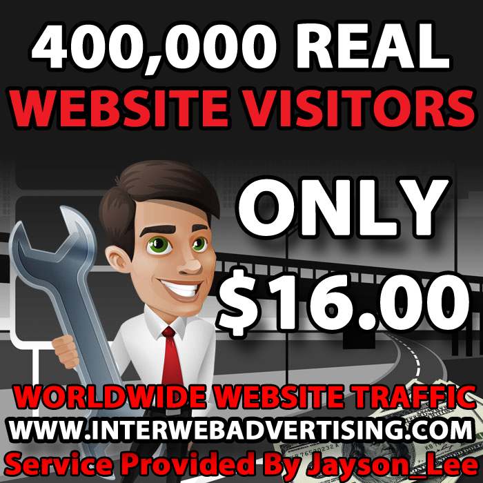 400K Web Traffic To Your Website, Blog or Affiliate Link