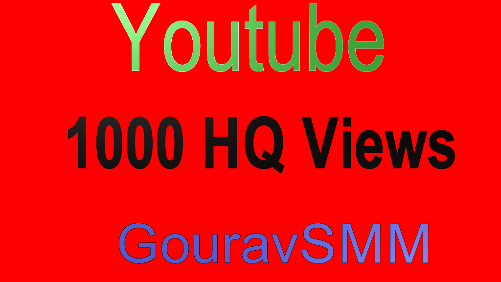 1000 Youtube views High Retention