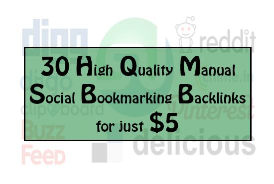 60 High Quality Manual Social Bookmarking backlinks