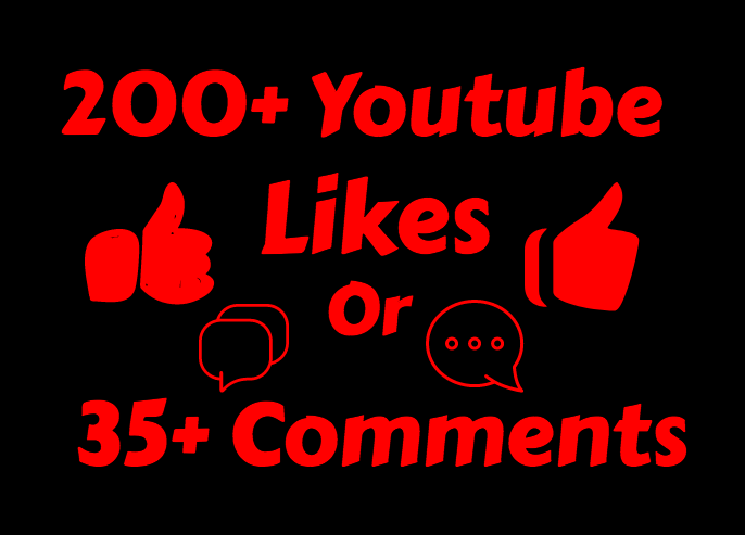 add 250-300+ Real Youtube Likes or 35 Custom Comments