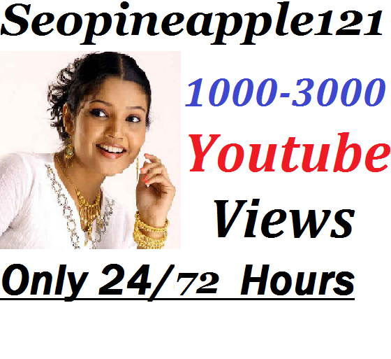 1000-3000 High Quality Non Drop Youtube Views Within 24-72 Hours