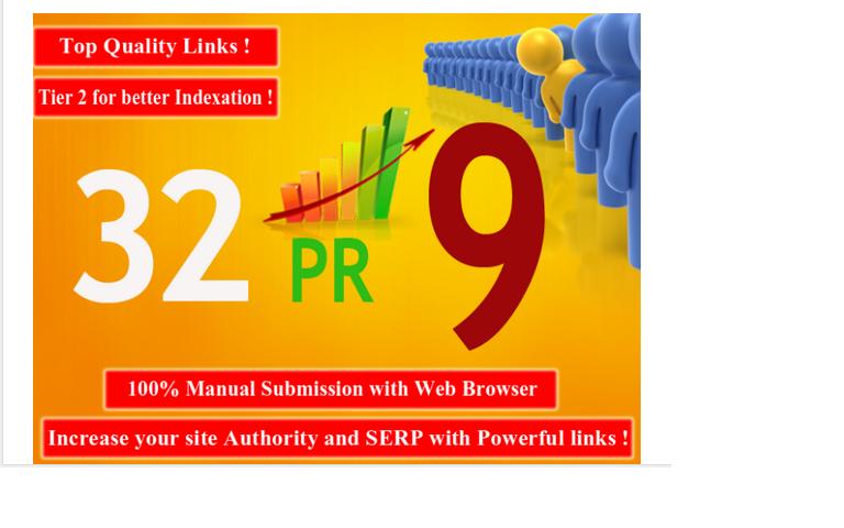 manually do 32 Pr9 Google Safe SEO Hpr Authority Backlinks 2015 Quality Pack