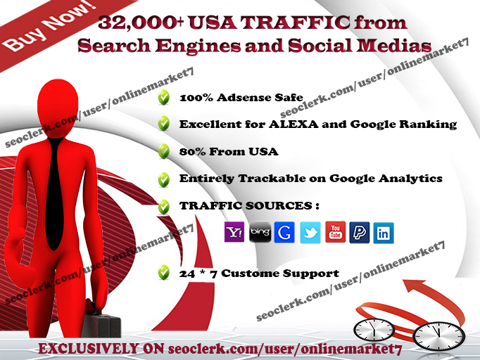 32000+ TRAFFIC from SEARCH ENGINE and SOCIAL MEDIA si...