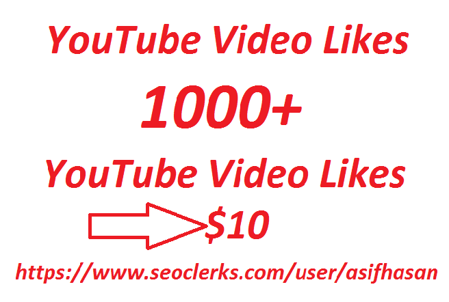 Get high-quality 100  YouTube video likes only