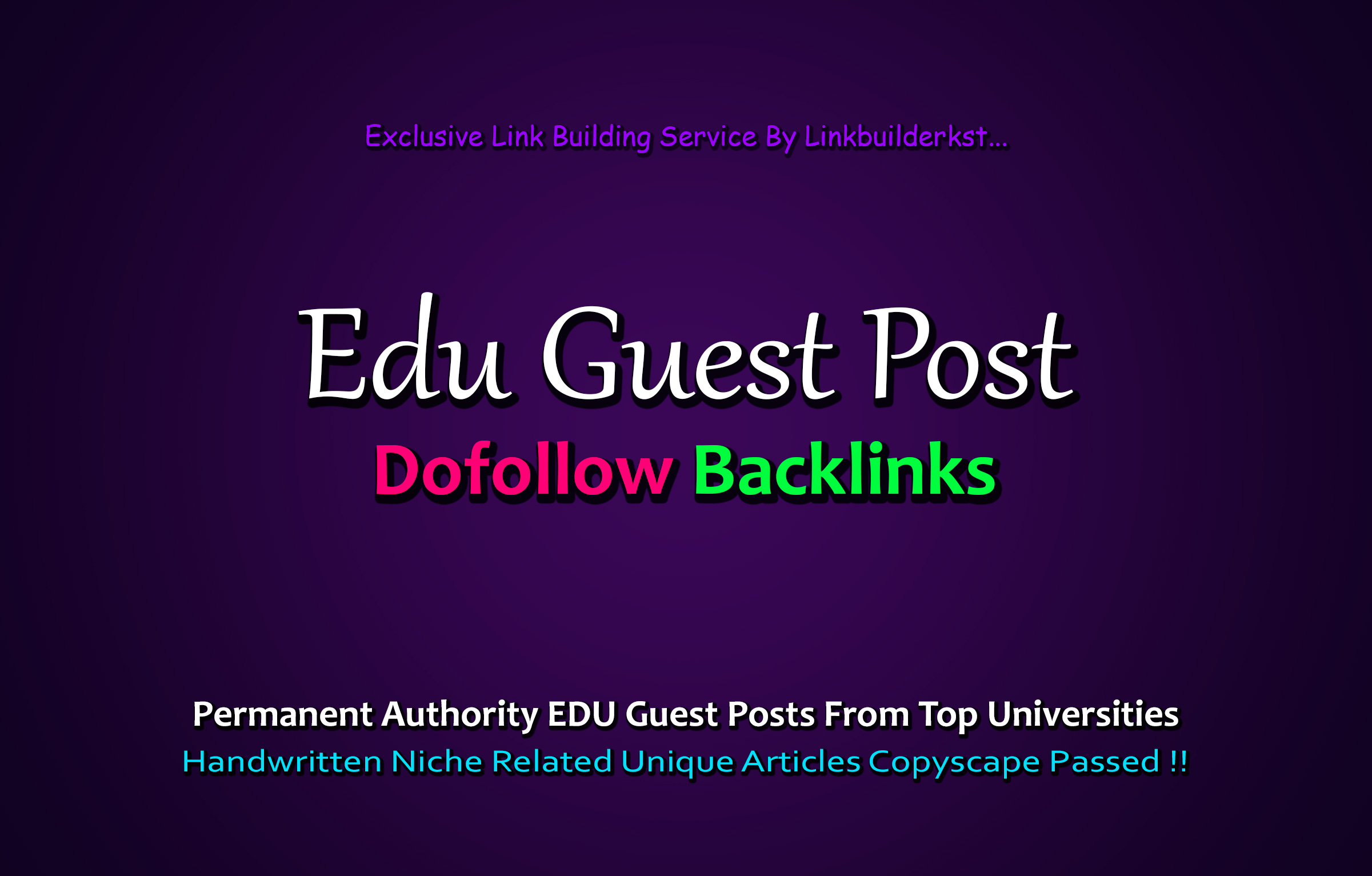 Publish 3X EDU Guest Posts From Top Level Universities