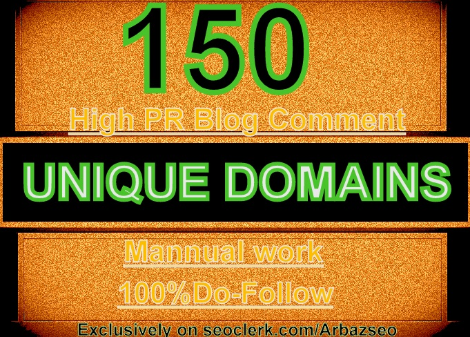 I WILL DO MANUALLY 150 BLOG COMMENTS BACKLINKS ON UNIQUE DOMAINS