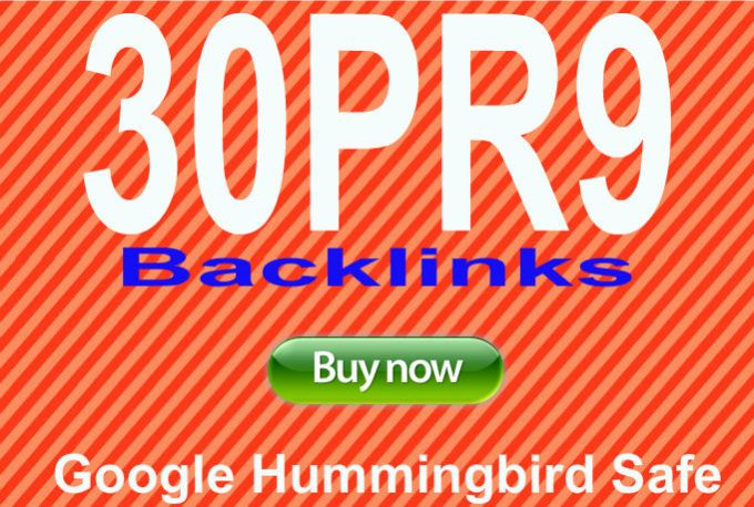 Create 30 High Authority backlinks from PR9 Domains
