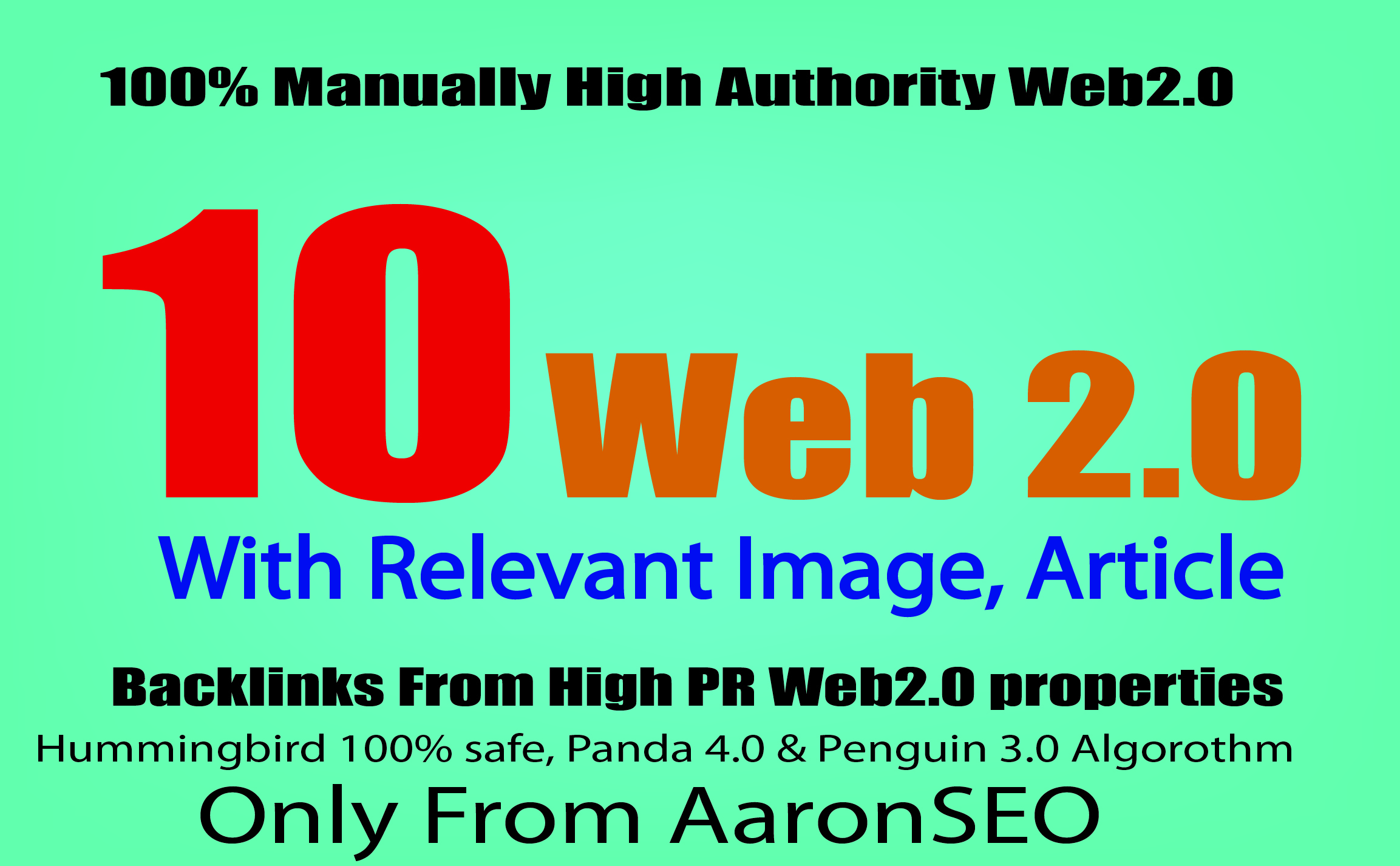10 High Authority Web2.0 Properties With Relevant Image, Article